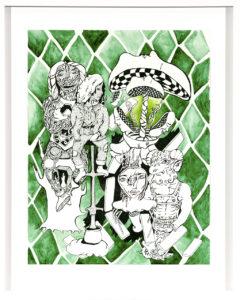 Emerald, Drawing