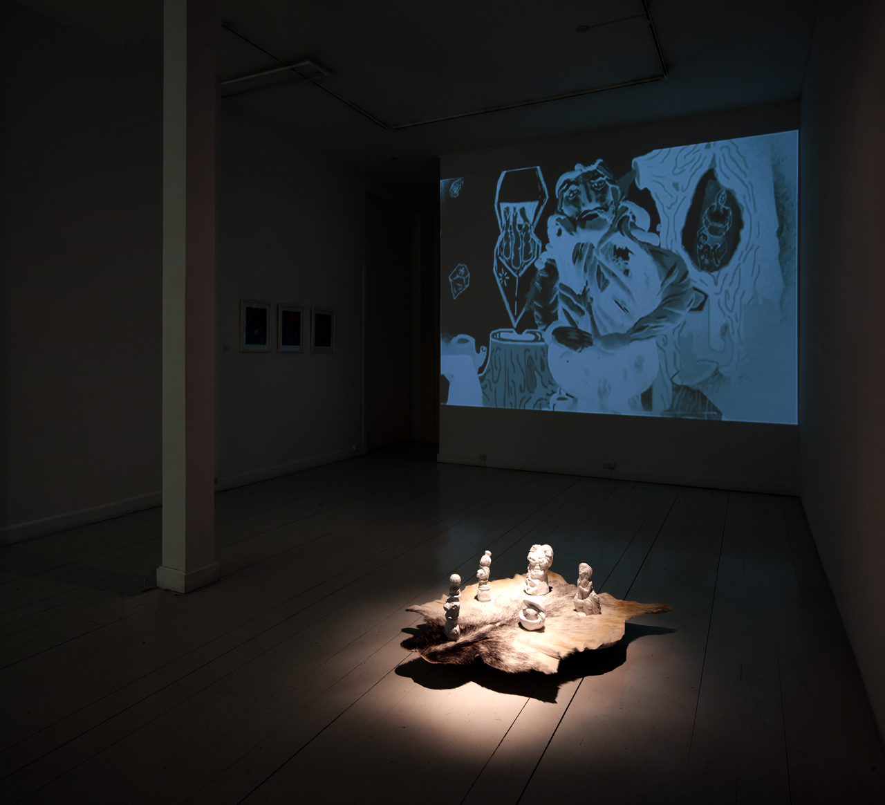 Exhibition view / animation-installation