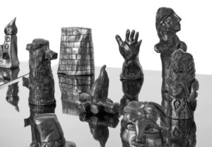 Sculpture Detail plaster and graphite