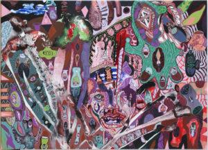 Purple Face Dream 90x125 cm