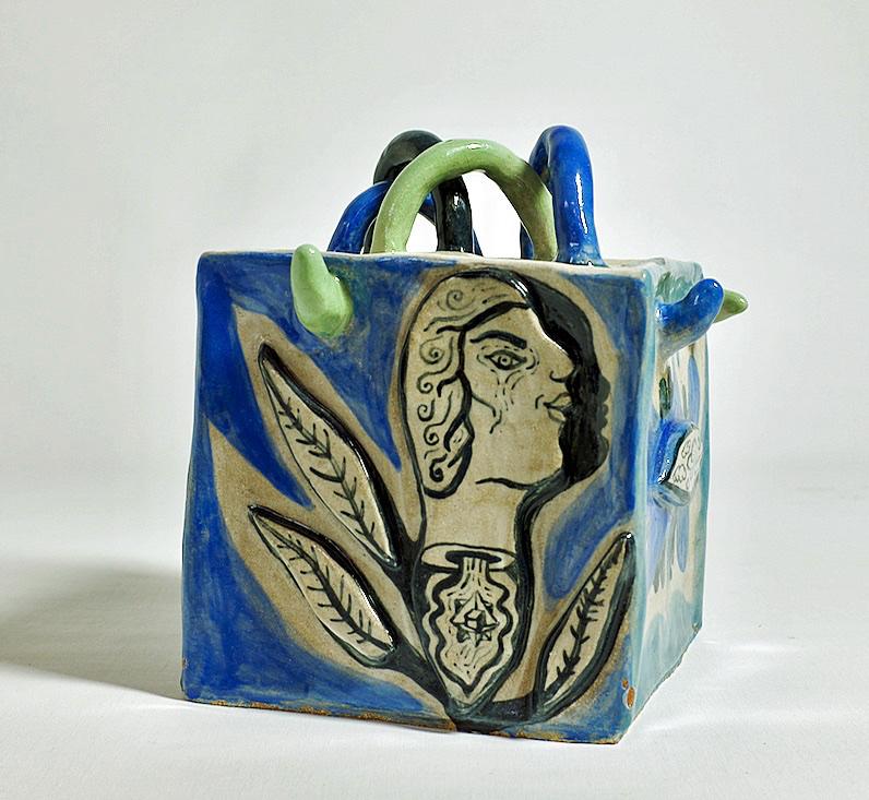 Cube Keramik med glasur 25x22x20 cm