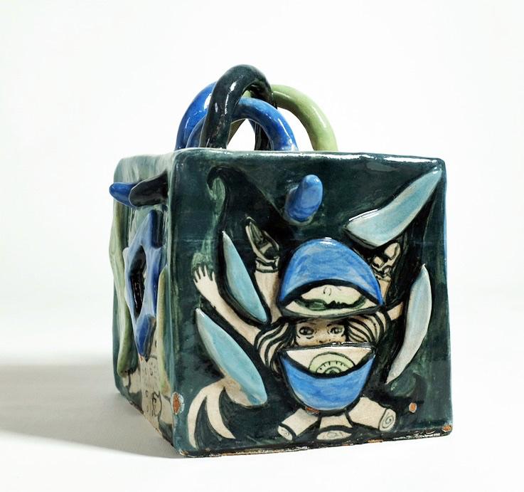 Cube Keramik med glasur