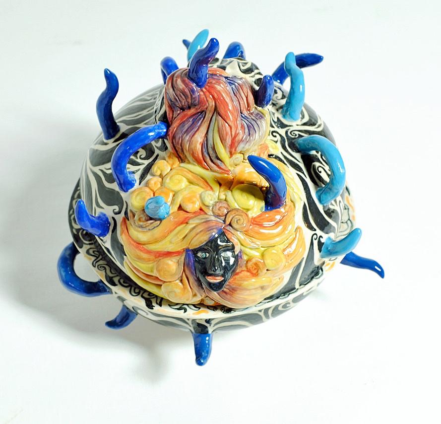 Giana Keramik med glasur 30x29x27 cm