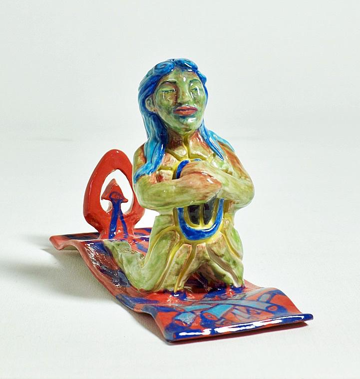 Rogue Keramik med glasur 14x8x21 cm