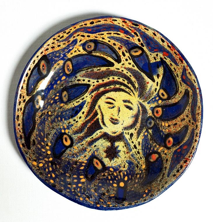 Third eye Keramik med glasur 20x20 cm